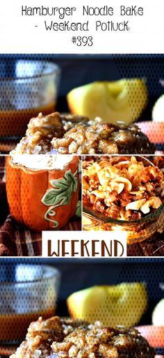 #foodanddrinknoodles #weekendpotluck #cheeseburger #hamburger #potluck #caramel #weeke... Hamburger Spices, Hamburgers, Noodles, Caramel, Baking, Breakfast, Food, Macaroni, Sticky Toffee