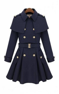 Cute coat with shoulder folds.