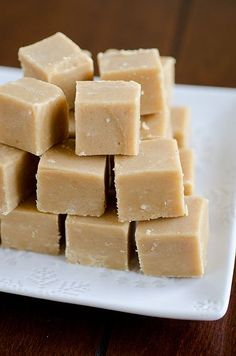 Peanut Butter Fudge. It only uses four basic ingredients and takes five minutes to prepare.