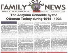 The Assyrian Genocide, 1914, in the Ottoman Empire. Assyrians were killed and persecuted in the middle east because of their ethnicity & Christian identity.
