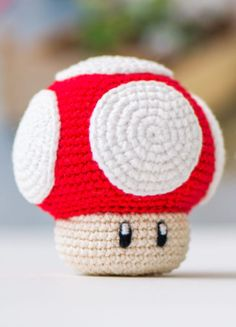 Amigurumi: 1Up Pilz aus Super Mario World zum Häkeln - Häkelanleitung via Makerist.de