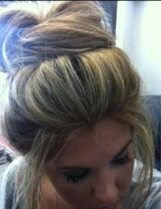 Casual updo. Not sur