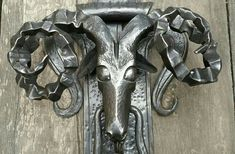 Forjangel Blacksmith door knocker