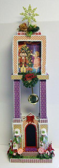 Paper Phenomenon: Grandfather Clock - Christmas