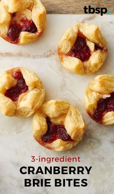 Flaky puff pastry, creamy brie and tart cranberries—three ingredients are all you need to pull together these fancy appetizers. We guarantee no one will believe you when you tell them how easy they are to make.