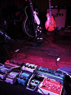 Aaron Dessner of The National's pedal board