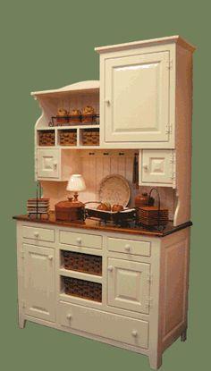 primitive homes picturetrail Primitive Furniture, Country Furniture, Kitchen Furniture, Wood Furniture, Amish Furniture, Miniature Furniture, Primitive Homes, Primitive Kitchen, Country Primitive