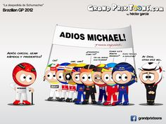 formula one cartoon images | Continental Circus: Formula 1 em Cartoons - A despedida de Schumacher ...