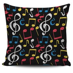 Shop Now: Music Notes Symbols Pillow is available in my store ✨ oompah.