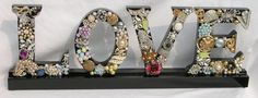 Jeweled Monogram Letter M by Ryoan on Etsy