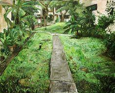 Plein Air Painting  Yeo Tze Yang  The Path Out 2013 Oil on canvas 76x60.5cm ~ My first en plein air painting!