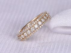 Diamond- April Birthstone. Gemstone can be replaced with other birthstone.  Material: Solid 14k Gold( White/Rose/Yellow gold available,14 &18k available)  Band Width: approx 4mm  Stones: 1.10ct Round Cut Natural Conflict Free Diamonds,SI Clarity,H color  Cut: Very-Good  Setting: Prong,Bezel  Fit: Comfortable  ------ {Our custom service}:  Have your own design?Welcome any kinds of custom order. Send us the design and well make the exact jewelry for you!  Need this ring with matching band?…