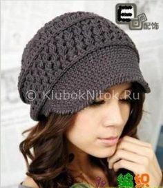 Теплая кепка | Вязание для женщин | Вязание спицами и крючком. Схемы вязания.