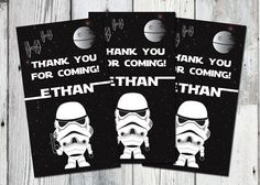 Listing is for Star Wars favor tags. Perfect for your Star Wars themed Birthday party. YOU print. Print as many as you need! Print on cardstock on