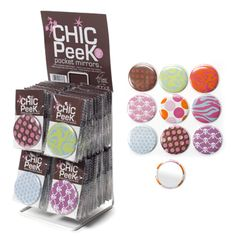 Pocket Mirror with Design - PRODUCT CODE: 20-CHIC/MIRROR