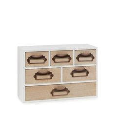 Home Collection - White 'Hygge' wood 6 drawer chest  Now £15.00 Save £15.00 Was £30.00 Then £21.00