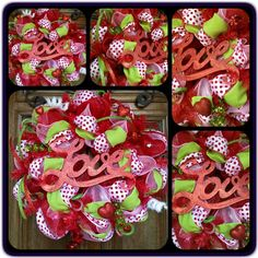 V-day wreath by Sassy Cajun  https://www.facebook.com/Molly.Maung