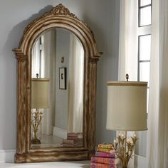 Hooker Furniture Vera Floor Mirror with Jewelry Armoire Storage - 638-50056