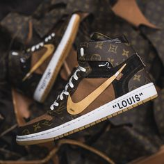 This highly luxurious pair of Louis Vuitton OFF–WHITE x Nike Air Jordan 1s are next level, incredibly limited, and will be available for purchase soon.