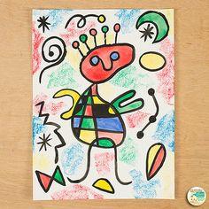 Art Lesson: Joan Miro Portrait Roll A Dice Art History Game and Art Sub Plan Joan Miro Paintings, Famous Artists Paintings, Famous Abstract Artists, Modern Artists, Art Lessons For Kids, Art Lessons Elementary, Art For Kids, Joan Miro Pinturas, Art Sub Plans
