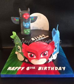 PJ Masks Cake Edible Moonlight Heroes!