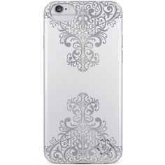 Nanette Lepore Silver Metallic Lace iPhone 6/6s Case ($15) ❤ liked on Polyvore featuring accessories, tech accessories, silver and nanette lepore
