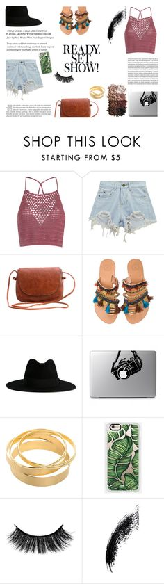 """'The most important kind of freedom is to be what you really are. You trade in your reality for a role. You give up your ability to feel, and in exchange, put on a mask'. Jim Morrison"" by patienceisavirtue ❤ liked on Polyvore featuring Glamorous, Chicnova Fashion, Elina Linardaki, Yves Saint Laurent, Casetify, Oris and LORAC"