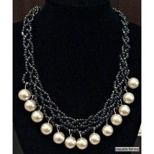 AwesomePearl Necklace Jewelry Collection, Pearl Necklace, Pearls, Diamond, Style, Fashion, Moda, La Mode, Beads