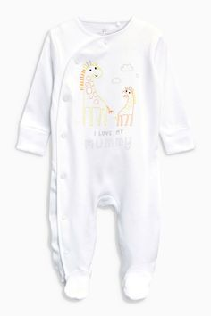 Buy Ecru Mummy Sleepsuit (0-18mths) from the Next UK online shop