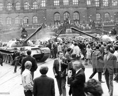 'Prague Spring': Prague Citizens Tried To Persuade Bewildered Soviet Soldiers That There Was No Civil War Or Counter-Revolution In This Country. Get premium, high resolution news photos at Getty Images Prague Spring, Tank I, Citizen, Europe, Concert, Soldiers, Revolution, Pictures, Photos