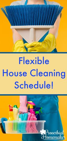 Overwhelmed by housework and trying to get it all done? Use loop scheduling for a flexible house cleaning schedule that works! via @TaunaM