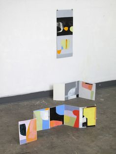 Collage as Neighbors, Studio Floor and Wall, 2014 Harriet Bellows