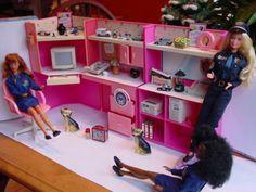Police Officer Barbie Diorama Office Furniture w Miniature Accessories Unique | eBay