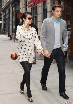 Kourtney Kardashian Out in New York with Scott October 4 2011