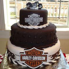 Harley Davidson groomsmen cake