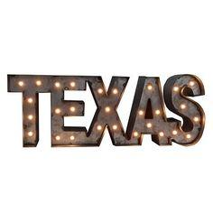 Americana ''Texas'' LED Marquee Wall Decor