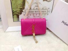 S/S 2015 Saint Laurent Bags Cheap Sale-Classic MONOGRAM SAINT LAURENT Tassel Satchel in Rose Matelasse Leather