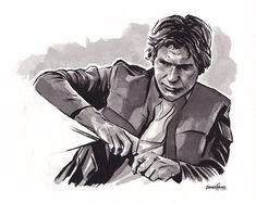 Art by James Hance Han Solo And Chewbacca, Love Stars, Star Wars Art, Religion, Sci Fi, Ink, Canvas, Drawings, Deviant Art