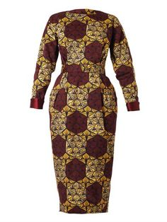 Why dont they have a 16 or 😠😳Katerina printed long-sleeved dress Stella Jean MATCHESFAS. African Print Dresses, African Print Fashion, African Fashion Dresses, African Dress, Fashion Prints, African Prints, Ankara Gown Styles, Ankara Gowns, Ankara Dress