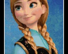 Cross stitch pattern Elsa and Anna Frozen Instant by NeniDesign