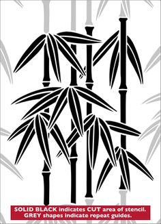 Bamboo No 4 stencil from The Stencil Library JAPAN range. Buy stencils online. Stencil code JA64.