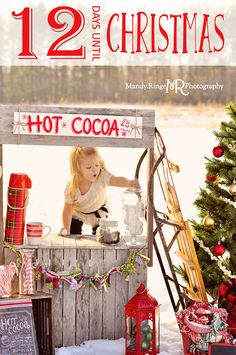 Hot Cocoa Stand Mini Session // 12 Days of Christmas, Christmas Countdown // Leroy Oakes - St. Charles, IL // by Mandy Ringe Photography