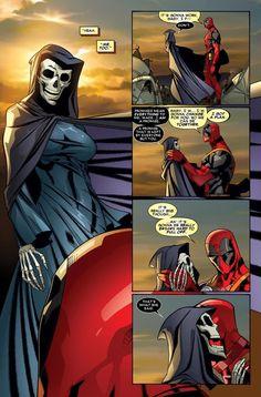 Deadpool and Death.