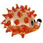Hedgehog glass figurine