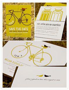 Bikes!! #savethedate #invitations #wedding