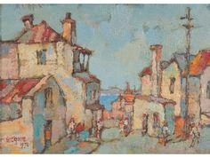 Gregoire Boonzaier, 'House and Table Bay, De Villiers St. District Six, Cape Town'