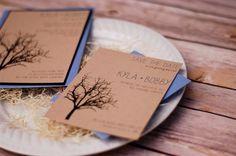 Tree Wedding Save the Date - Fall Wedding - Rustic Save the Date - Modern Rustic Tree Design -