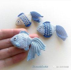 Crochet Fish Patterns, Crochet Motifs, Crochet Patterns Amigurumi, Crochet Designs, Crochet Dolls, Crochet Stitches, Cross Stitches, Loom Patterns, Crochet Brooch