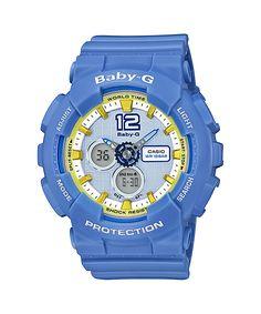 Baby-G green, blue, white, yellow, gold BA-120-2
