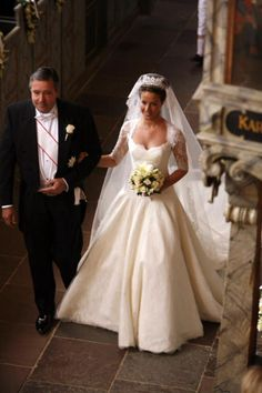 Princess Marie of Denmark's wedding dress is incredible! I love the neckline